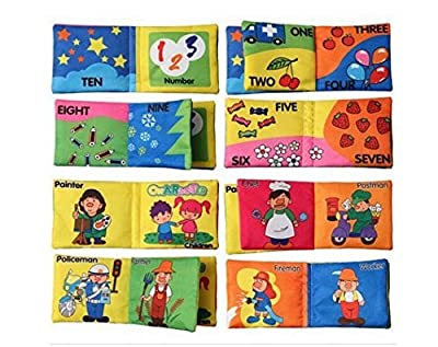 XMJ 6-PACK Baby Soft Cloth Book ,Soft Rattle Paper Cloth Books Infant Educational Stroller Toy Newborn Crib Bed Baby Toys 0-12 month by XMJ that we recomend individually.