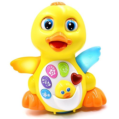 Aipai-Musical-Duck-Toy-Lights-Action-with-Adjustable-Sounds-Battery-Operated-Songs-Dancing-Gift-for-Your-Babies