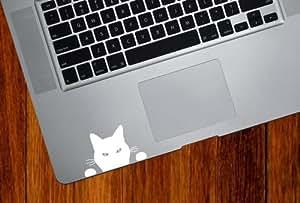 "Black Cat ""Soon..."" - Trackpad / Keyboard - Vinyl Decal (WHITE)"