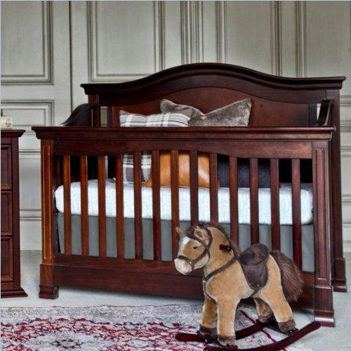 Million Dollar Baby Classic Louis 4-In-1 Convertible Crib, Espresso front-327798