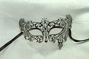 Kayso Inc Ruby Kisses Collection VII Metal Masquerade Mask