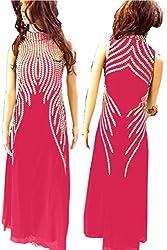 SkyheartFashion by Women's Unique design Pink Gown