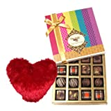 Delectable Flavours Truffles And Chocolates With Heart Pillow - Chocholik Belgium Chocolates