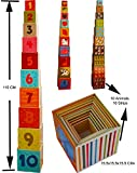 Toys of Wood Oxford Stacking Boxes Cubes/ Number And Alphabet Blocks Stacking Cups