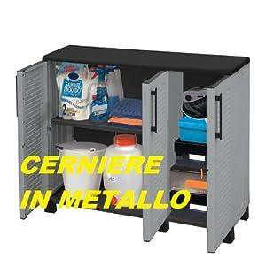 Armadio in resina per esterni cerniere in metallo cm 105x37x90 casa e cucina - Cerniere per mobili da cucina ...