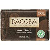 Dagoba Organic Unsweetened Chocolate For Baking Bar, 6-Ounce Bars (Pack of 10)
