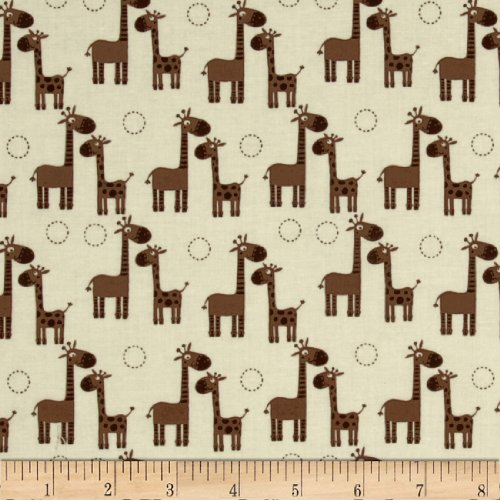 Riley Blake Giraffe Crossing Giraffe Giraffe Cream Fabric fossil riley es3887