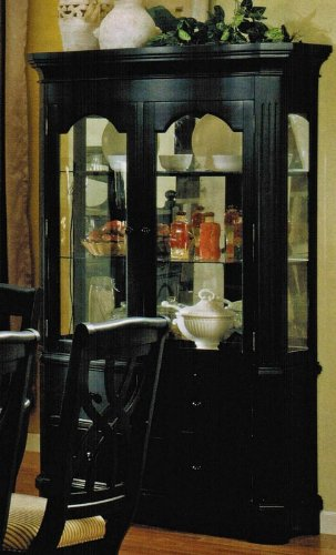 Cheap China Cabinet Buffet Hutch in Black Finish (VF_AM10024)