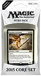 Magic the Gathering (MTG) 2015 Core Set / M15 Intro Pack / Theme Deck - Resolute Archangel (White/Black)(Includes 2 Booster Packs)