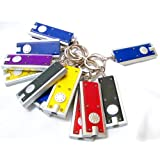 Mini LED Flashlight Key Chain - DOZEN(Colors May Vary)
