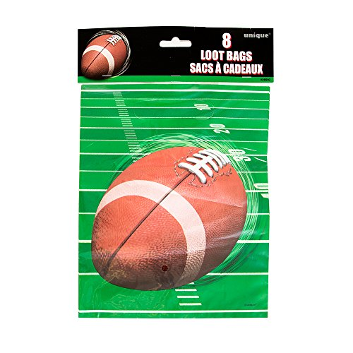 Football Party Favor Bags, 8ct