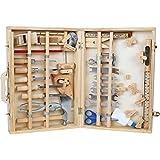 Werkzeugkoffer 'Deluxe' aus Holz, mit 48 Teilen für kleine...