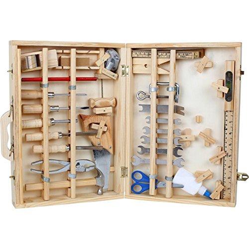 Werkzeugkoffer-Deluxe-aus-Holz-mit-48-Teilen-fr-kleine-Heimwerker-ab-8-Jahren-das-passende-Werkzeug-fr-die-notwendige-Reparatur