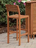 Home Styles 5661-89 Montego Bay Bar Stool, Eucalyptus Finish, 29-Inch
