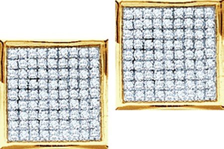 0.05CTW DIAMOND MICRO PAVE EARRINGS