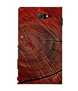 printtech Wood Block Design Back Case Cover for Sony Xperia M2 Dual D2302::Sony Xperia M2
