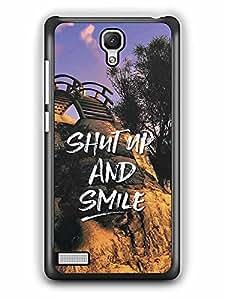 YuBingo Shut Up and Smile Designer Mobile Case Back Cover for Xiaomi Redmi Note