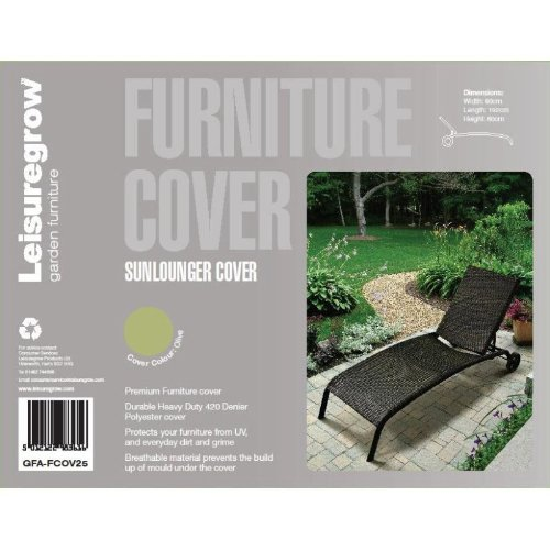 breathable garden furniture covers. LeisureGrow Sunlounger Cover 80cm X 192cm Breathable Garden Furniture Covers U