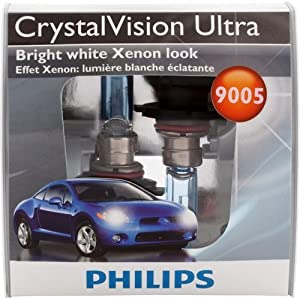 Philips 9005 CrystalVision Ultra Headlight Bulbs (High-Beam), Pack of 2