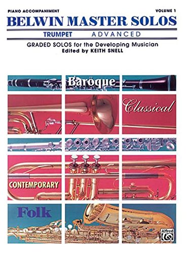 Belwin Master Solos (Trumpet), Vol 1: Advanced Piano Acc. (Belwin Master Solos Trumpet compare prices)
