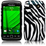 BLACKBERRY TORCH 9860 ZEBRA PU LEATHER ONE-PIECE SNAP CASE / COVER / SHELL / SHIELD PART OF THE QUBITS ACCESSORIES RANGEby Qubits