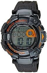 Sonata Digital Black Dial Mens Watch - 77010PP04