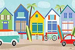 Oopsy daisy Surf Shacks Canvas Wall Art by Vicky Barone, 30 by 20-Inch