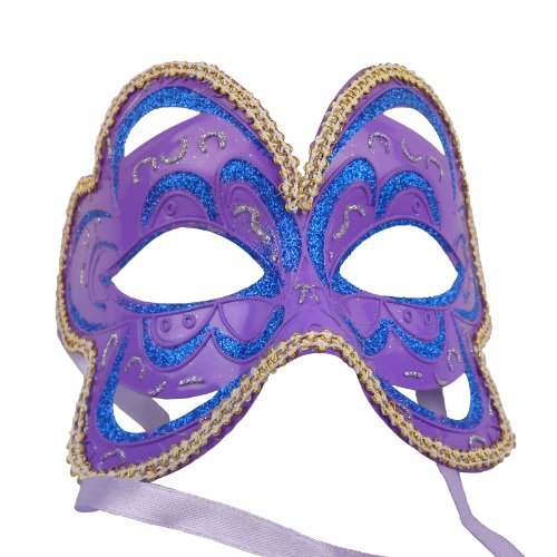 NATI Women's Butterfly Masquerade Mask Color Purple - 1