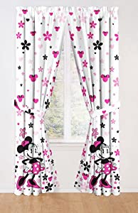 disney minnie mouse classic gardinenschals. Black Bedroom Furniture Sets. Home Design Ideas