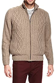 North Coast Cable Knit Cardigan with Wool [T30-4483N-S]