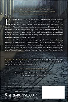 Ronald h balson new book