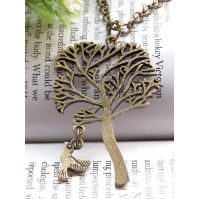 Vintage Jewelry - Vintage Enchanted Tree of Life Antique Bronze Necklace - Boxed & Gift Wrapped
