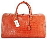+ThaiPremiumHouse+100% PREMIUM GRADE BELLY SKIN GENUINE CROCODILE LEATHER HANDBAG CLOTHING BAG HOBO TAN RIVER NEW W/Strap&Locked