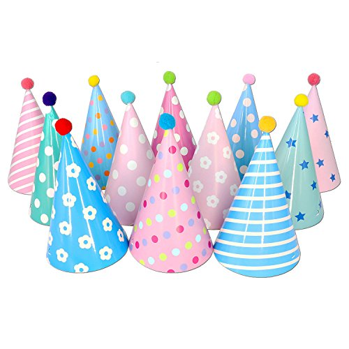 Party Hats Birthday Kids Set Of 12 Fun Adult