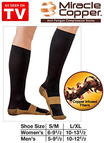 Miracle Socks Anti-fatigue Copper Socks L/xl Size