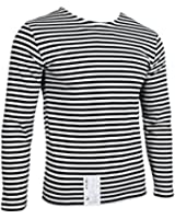 Russian Marines Telnyashka T-Shirt - Black Stripes Long Sleeve