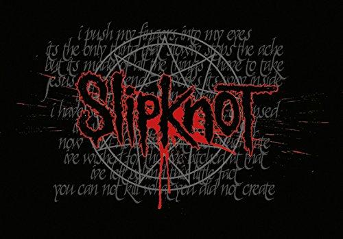 Heart Rock Licensed Bandiera Slipknot - Splattered, Tessuto, Multicolore, 110X75X0,1 cm
