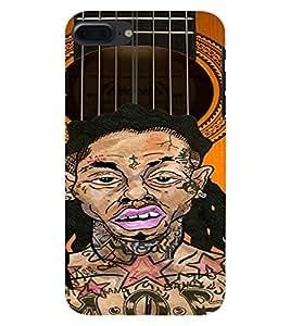 PrintVisa Music Guitar Rap 3D Hard Polycarbonate Designer Back Case Cover for Apple iPhone 7 Plus