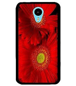 ColourCraft Beautiful Flowers Design Back Case Cover for MEIZU M1 NOTE