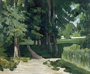 Amazon.com: Cezanne (Chestnut Trees and Basin at the Jas de Bouffan, c