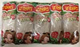 Kaset Brand Thai Bean Thread Glass Noodles -14 Oz (1.4 Oz X 10 Sachets) Free 1 Pack Chewy Tamarind