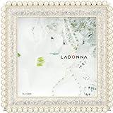 Amazon.co.jpLADONNA ブライダルフレーム メタル ホワイト 写真75 x 75mm MJ46-S2-WH