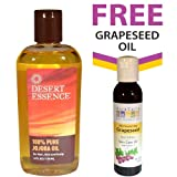 Desert Essence Pure Jojoba Oil + FREE Aura Cacia Natural Skin Care Grapeseed Oil
