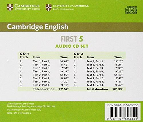 Cambridge English First 5 Audio CDs (2) (FCE Practice Tests)
