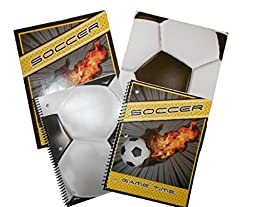 Soccer Sports Back to School Bundle, 4 Items: 2 Soccer Ball Portfolio Folders, 2 Soccer Ball Notebooks