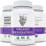 Organic Resveratrol - Pure 1,000mg Resveratrol (500mg Trans-Resveratrol) Per Serving - NON-GMO - Powerful Antioxidant & Skin Supplement - 100% Guarantee - 60 Vegetarian Capsules