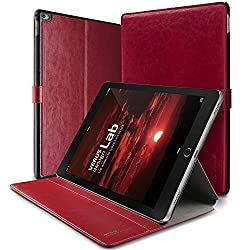 iPad Pro Case, Verus [Layered Dandy][Red] - [Protective Slots][Magnetic Fastener][Adjustable Kickstand] - For Apple iPad Pro 2015 Devices