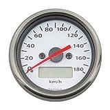デイトナ(DAYTONA) 電気式スピードメーター 180km/h ホワイト 63812