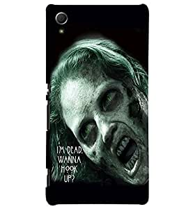 Fuson Scary Girl Back Case Cover for SONY XPERIA Z4 - D3796
