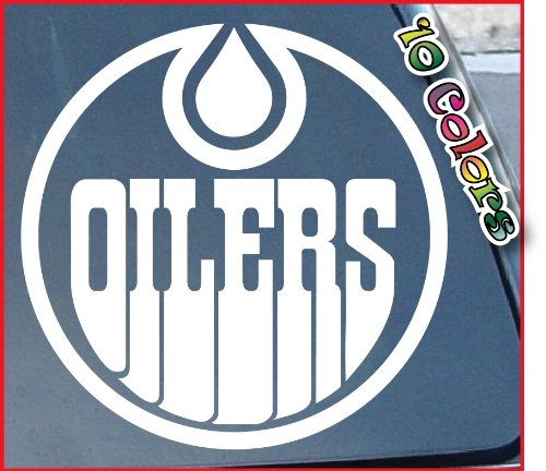 Edmonton oilers car window vinyl decal sticker 6 wide color white review